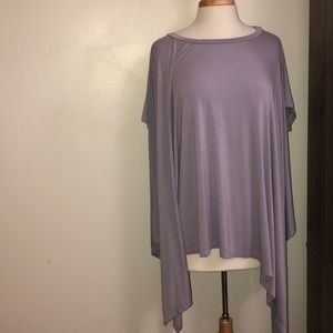 Oversize short sleeve light violet T-shirt